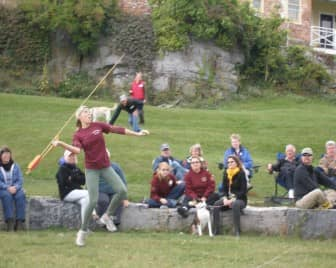 Kelsey Devlin, daughter of Cheryl and John Devlin of Warwick, won a gold medal as part of Franklin Pierce University's Atlatl Team at the at the 19th Annual Northeast Open Atlatl Championship in Addison, Vt. Sept. 20.