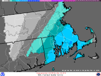 [CREDIT: National Weather Service] The National Weather Service predicts a snowstorm forecast to begin on Sunday will likely leave 5 to 6 inches of snow on the ground before ending Monday morning.