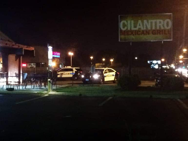 [CREDIT: Rob Borkowski] Warwick Police investigated a reported robbery at Cilantro Mexican Grill Thursday, Aug. 11.