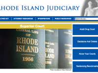 A screenshot of the RI Superior Court website.