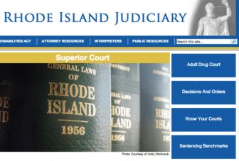 A screenshot of the RI Superior Court website.