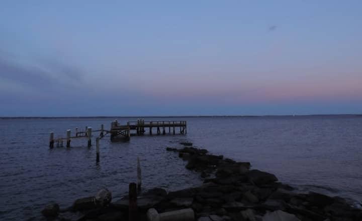 Rocky Point Park Pier at sunset April 28, 2015.