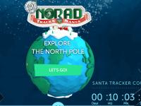 [CREDIT: NORAD] A look at NORAD's updated Santa Tracking website.