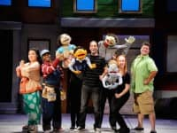 [CREDIT: Mark Turek] Jenna Lea Scott, Lovely Hoffman, Kate Monster, Princeton, Tommy Labanaris, Nicky, Jeff Blanchette, Rod, Elise Arsenault and Greg LoBuono in the hysterical and touching Tony® Award-winning musical comedy, Avenue Q, which is on stage at Ocean State Theatre in Warwick through August 21.