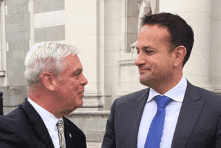 [CREDIT: Courtesy photo] Mayor Avedisian with Ireland's Prime Minister Leo Varadker at Leinster House in Dublin, seat of Ireland's national government. Varadker is a medical doctor and was elected PM June 2, 2017.
