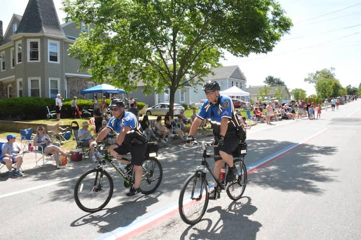 [CREDIT: Rob Borkowski] Warwick Police patrol Narragansett Parkway before Gaspee Days events Saturday, June 9, 2018.