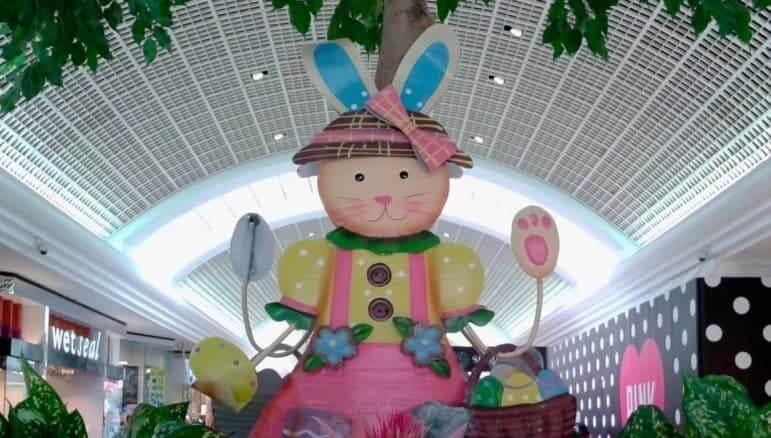 [CREDIT: Joe Hutnak] The Easter Bunny is at Warwick Mall this week.
