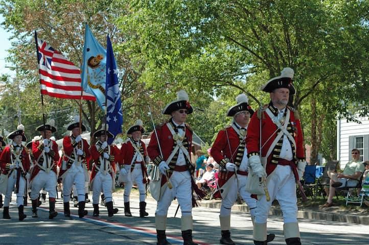 [CREDIT: Rob Borkowski] The Pawtuxet Rangers start off the 2019 Gaspee Days Parade Saturday, June 8.